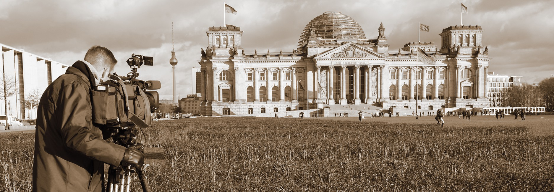 Production Reichstag Berlin German Parliament